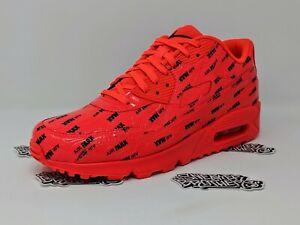 Nike-Men-039-s-Air-Max-90-Premium-Bright-Crimson-Black-700155-604