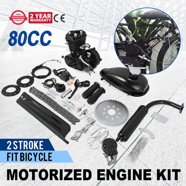 TOP 80cc 2 Stroke Petrol Motor Engine Kit for Motorised Bicycle Push Bike NEW