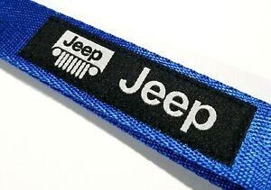 JDM FORD RACING BLUE  Keychain Metal key Ring Hook Strap Lanyard Nylon Universal