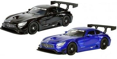 1:24 Scale Black Mercedes SLS Classe AMG GT NEW RAY Diecast Voiture Modèle 73386