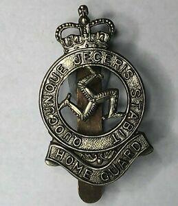 1953-68-Isle-of-Man-Home-Guard-Cap-Badge-White-Metal