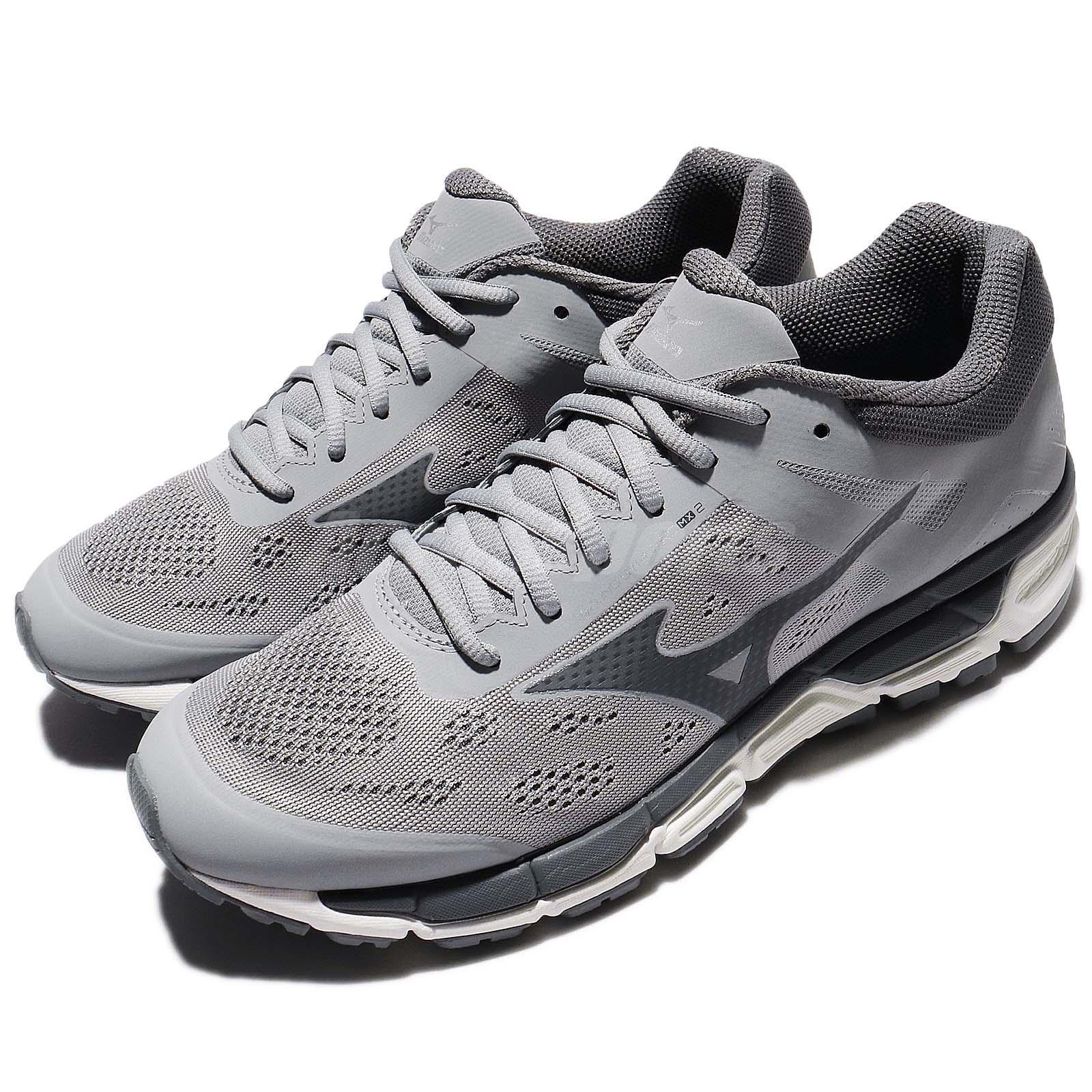 Mizuno Synchro MX2 gris negro Mens Running zapatos J1GE17-1948