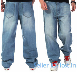 Details about Mens Casual Cotton Washed Denim Pants Loose Jeans Baggy  Troursers Sizes 30-46 9a32df341add