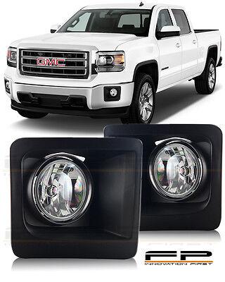 for 2014 2015 2016 GMC Sierra 1500 fog light interior bezel with wiring switch