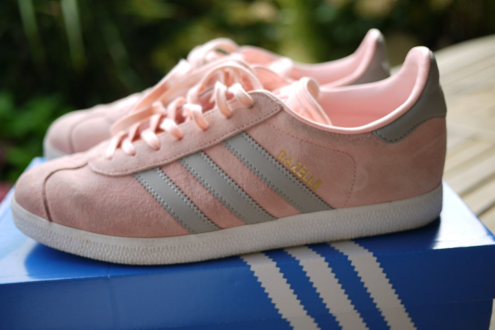 Adidas Gazelle W Gr.40 / UK 6,5 Rosa BA7656Haze Coral/Clear Granite/WEISS
