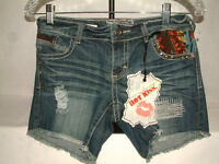 650 Awesome Jean Shorts From Hot Kiss, Size 1, Fabulous Embellishments,