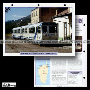 #009.02 Fiche Train - L'autorail Soule Des Chemins De Fer Corses (photo à Corte) Mode Attrayante