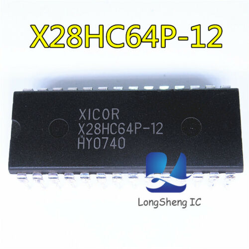 1pcs X28HC64P-12 DIP-28 8K X 8 EEPROM 5V 120 ns new
