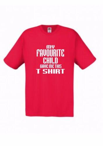 100/% Cotton Mens T Shirt Dads My Favourite Favourite Child