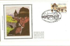 Walthéry. Hommage à Simenon. Enveloppe avec vignette, timbre et tampon