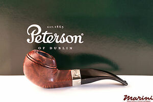 PFEIFE PIPES PIPE PETERSON OF DUBLIN ARAN 80B SEMICURVA RADICA LISCIA CON VERA