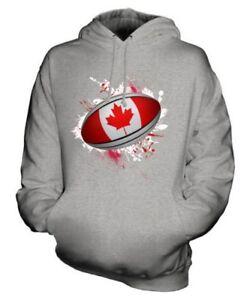 À De Haut Unisexe Éclaboussures Capuche Rugby Canada Sweat Ballon Cadeau 5qv8w0SX
