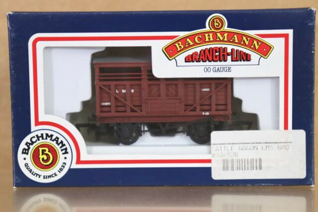 BACHMANN 33-652B LMS BROWN CATTLE WAGON 214875 MINT BOXED nt