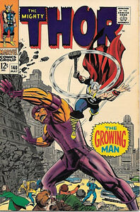 The Mighty Thor Comic Book #140, Marvel Comics 1967 FINE+