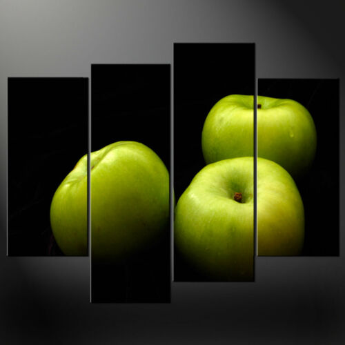 GREEN APPLES CANVAS WALL ART PICTURES PRINTS LARGER SIZES AVAILABLE