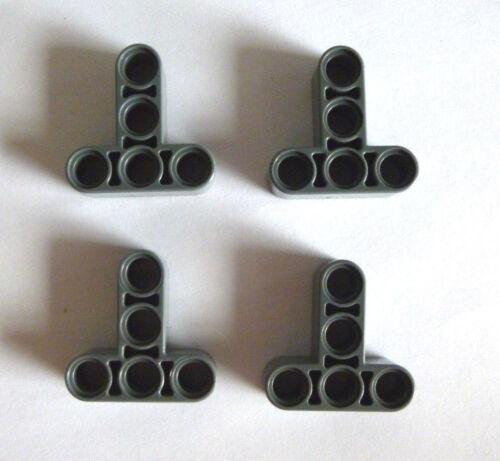 4 x LEGO ® 60484 Technologie pierres neudunkelgrau T-Beam 3x3 W//Hole ø4.8 NEUF.