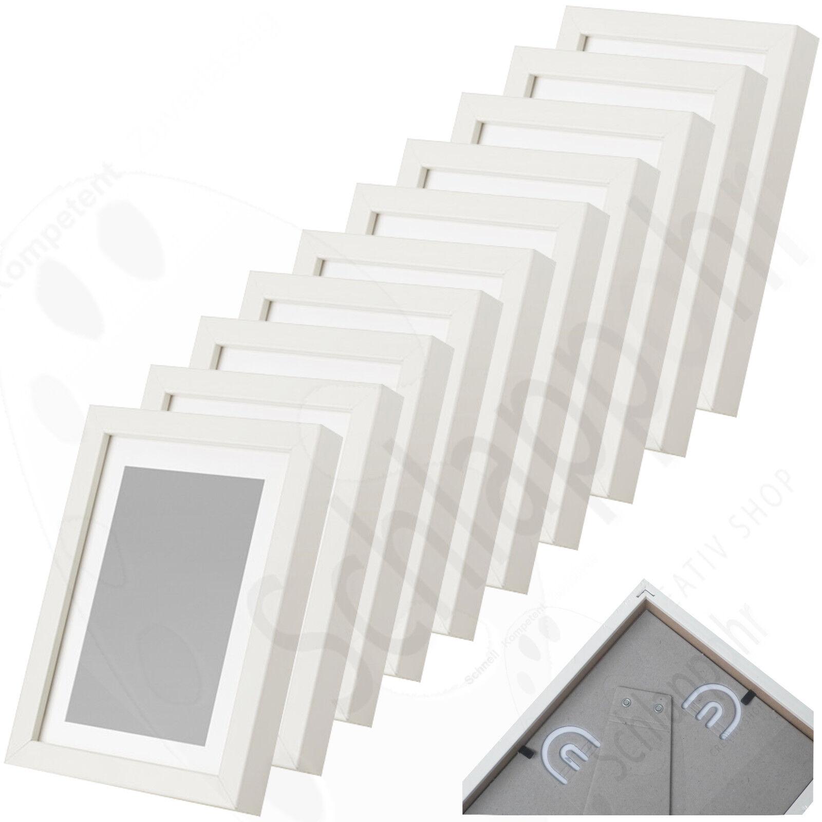 10 Stück Set IKEA LIMHALL 10x15 / 13x18 cm. Weiß/ Bilderrahmen ...