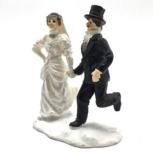 Magnificent Details About Christmas Village Figurine Just Married Bride Groom Running Cake Topper 3 In H Download Free Architecture Designs Scobabritishbridgeorg