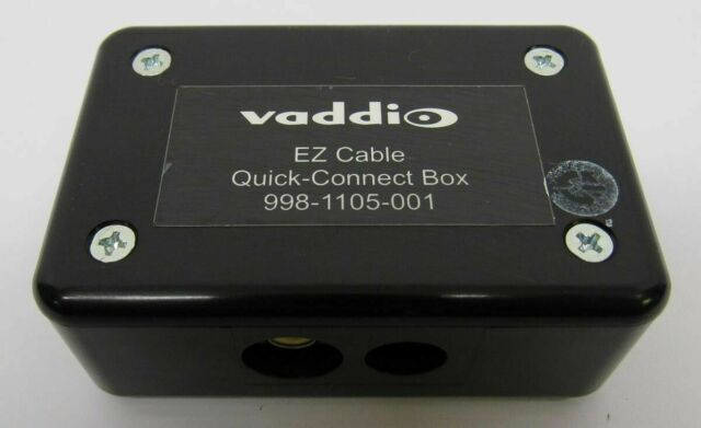 Vaddio EZ Cable Quick-Connect Box 998-1105-001 S-Video Composite Converter