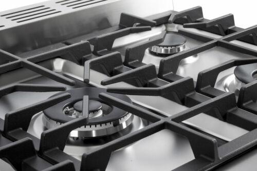 "Verona Prestige Series VPFSGE365SS 36/"" Dual Fuel Range Oven Stainless Steel"