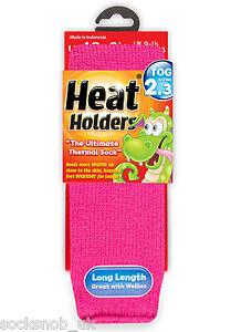 Boys-Girls-Thermal-Heat-Holder-Socks-Size-9-1-Uk-27-33-Eur-9-5-2-US-Hot-Pink