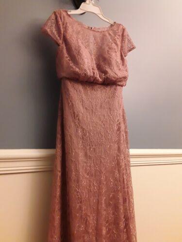 Azazie Dusty Rose Lace Gown/Dress