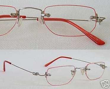 ZiZi Slim & Wide Rimless Reading Glasses CORAL+1.50