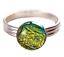 Tiny-Glass-Ring-Adjustable-1-4-034-8mm-Gold-Golden-Yellow-Metallic-Round-Dot thumbnail 1