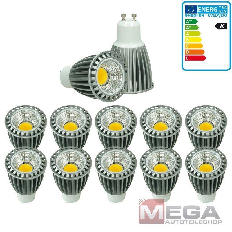 10 x LED COB GU10 Spot Lampe Birne Glühbirne Leuchte Licht Dimmbar 9W Warmweiß