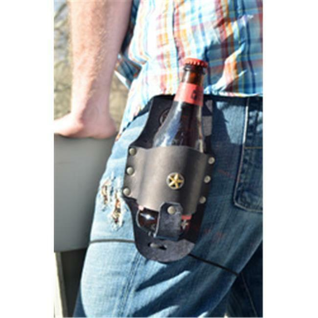 Rocky Mountain Holster Original Leather Beer Holster With Texas Star - Brown