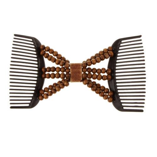 Afrikanische Haarkämme Stretch Doppelkamm Clip Haarspange Dehnbar Haarkamm