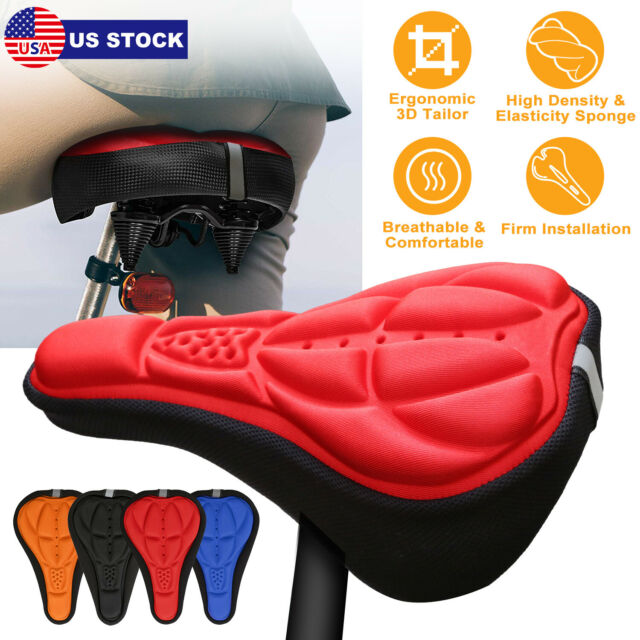 New Cycling Bike 3D Silicone Gel Pad Seat Saddle Cover Soft Cushion Bicycle Seat