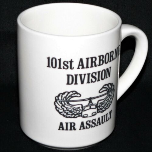 101st AIRBORNE DIVISION AIR ASSAULT SCHOOL BADGE MUG COFFEE CUP vgc 9oz rare
