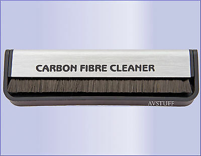 NEW CARBON FIBRE ANTI STATIC RECORD CLEANER BRUSH. NO FLUID REQUIRED.