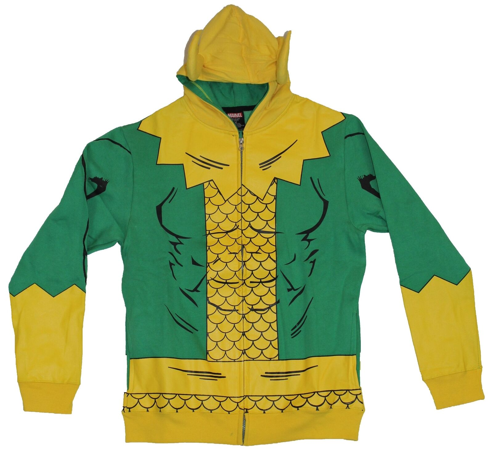 Thor (Marvel Comics) Loki  Herren Hoodie Sweatshirt - Simple Loki Costume W/ Horns