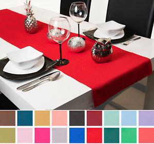 Roban-Fashion-Tischlaeufer-Tischband-Tischtuch-Tischdecke-40cm-Breit-in-26-Farben