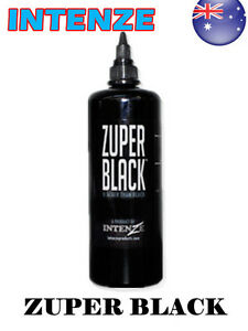 Genuine intenze zuper black tattoo ink 12oz 360ml bottle for Zuper black tattoo ink intenze