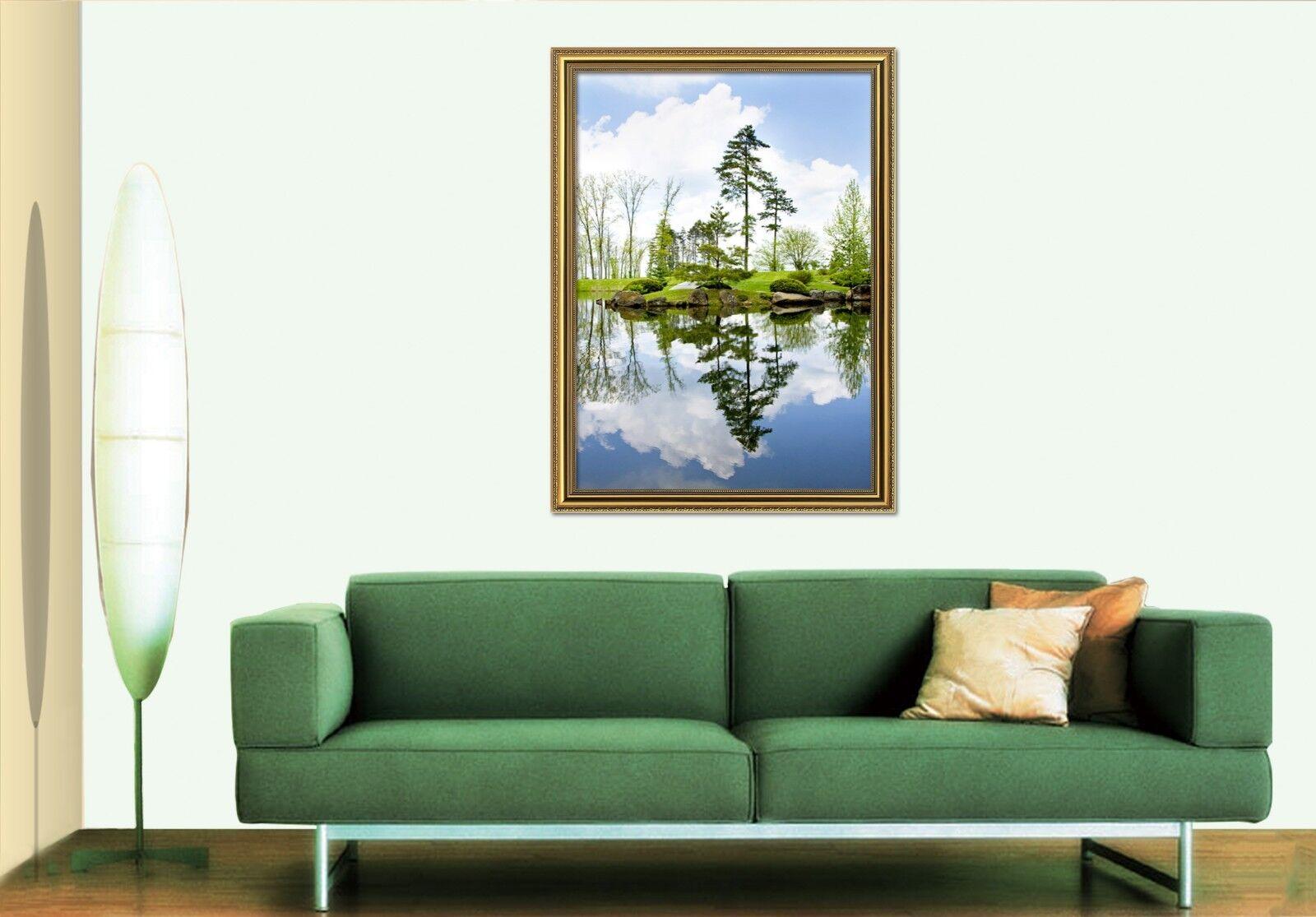 3D Riverside View 557 Fake Framed Poster Home Decor Drucken Painting Unique Kunst
