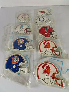 1970s NFL Helmet Air Fresheners Lot of 9 New England Baltimore Denver MORE