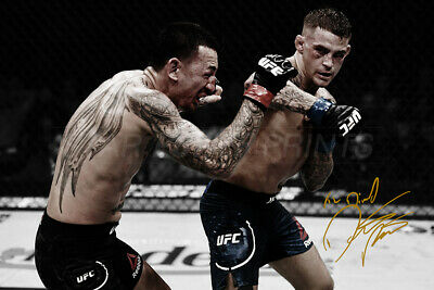 Dustin Poirier inspirational quote photo poster print pre signed We get up