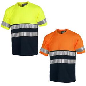 nuevo alto estilo de moda Calidad superior Detalles de Camiseta de alta visibilidad. Ropa laboral reflectante. Workteam