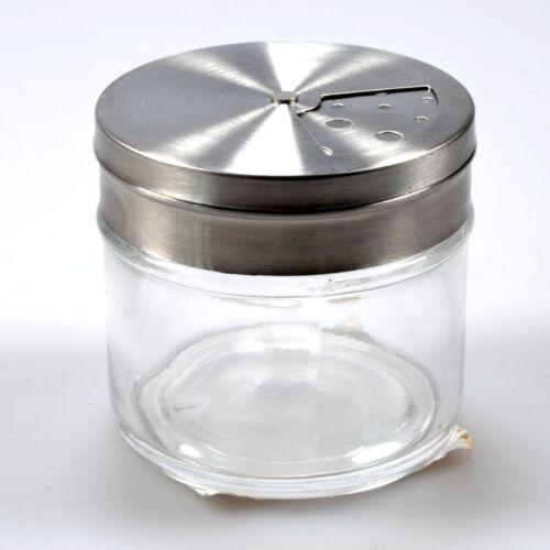 Gewürzstreuer-Set Streuer Aromabehälter aus Glas mit Edelstahlverschluss 6er-Set