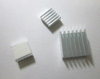 Aluminum Heatsink Set x3pcs - Protect OverClocking for Raspberry Pi Model B, B+