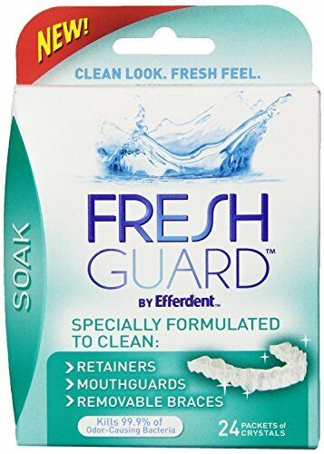 Crystal Soak for Cleaning Dental Devices /& Mouthpiece 24ct 2 Pack