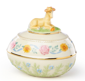 New in Box Lenox Spring Pony Easter Egg Trinket COA 2018 Collection 2-Available