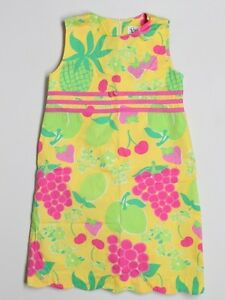 Girl-Lilly-Pulitzer-Sangria-Yellow-Shift-Dress-Size-8