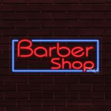 Brand New Barber Shop Withborder 32x13x1 Inch Led Flex Indoor Sign 30383