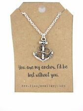 Silver You Are My Anchor I'd Be Lost Without You Message Card Quote Gift