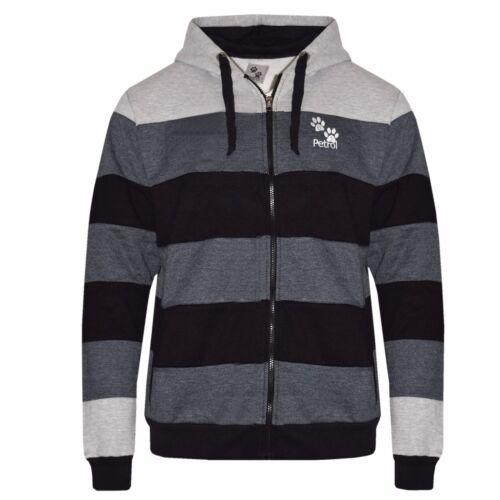 Mens US Patrol Hoodie Grey Strips Plus Size Sweater Jumper Hoodie