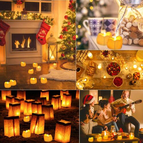 1-96Pc Flameless Votive Candles LED Tea Light Battery Operated Flickering Candle
